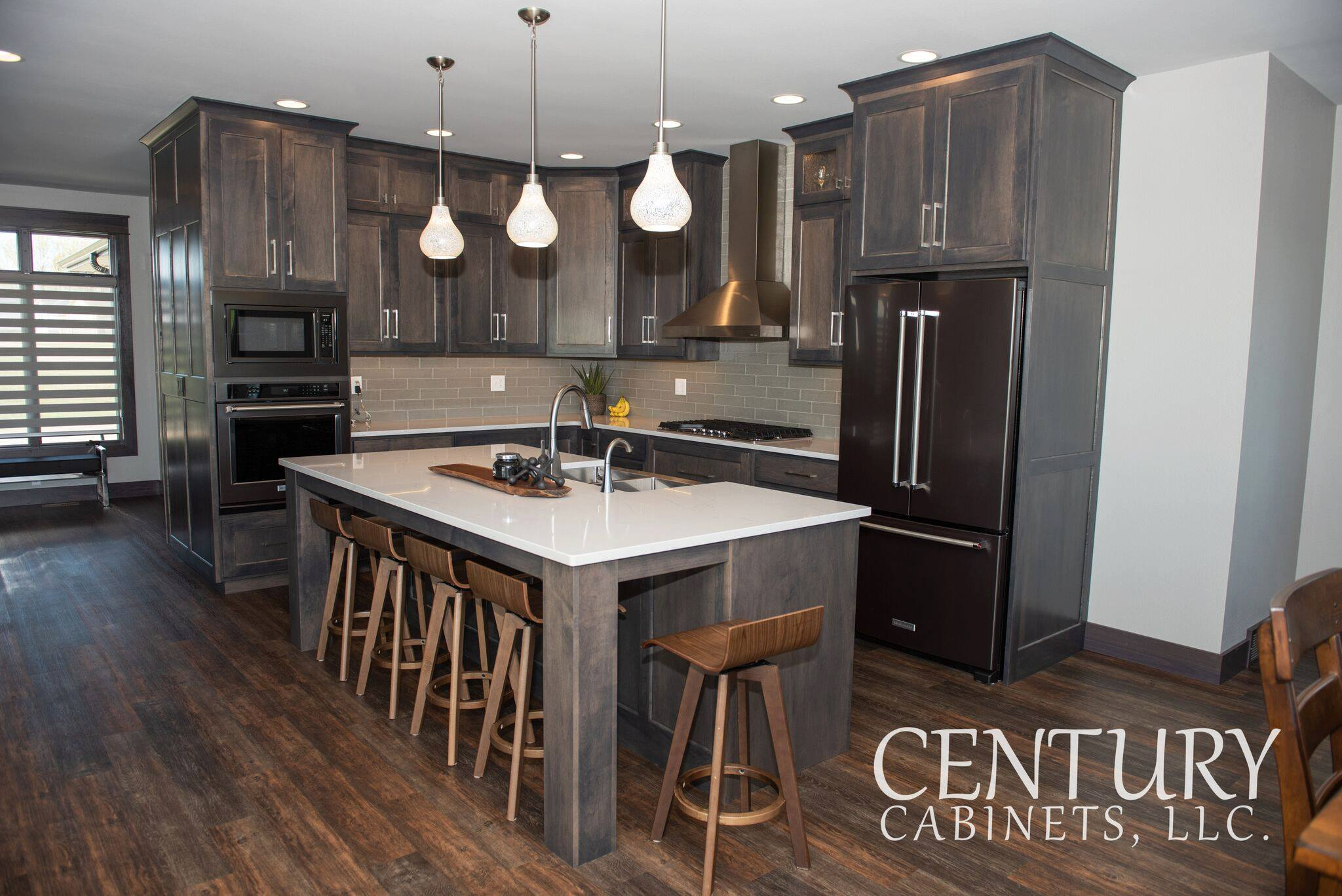 Smokey Modern Vibes Contemporary | Century Cabinets in Orange City, IA