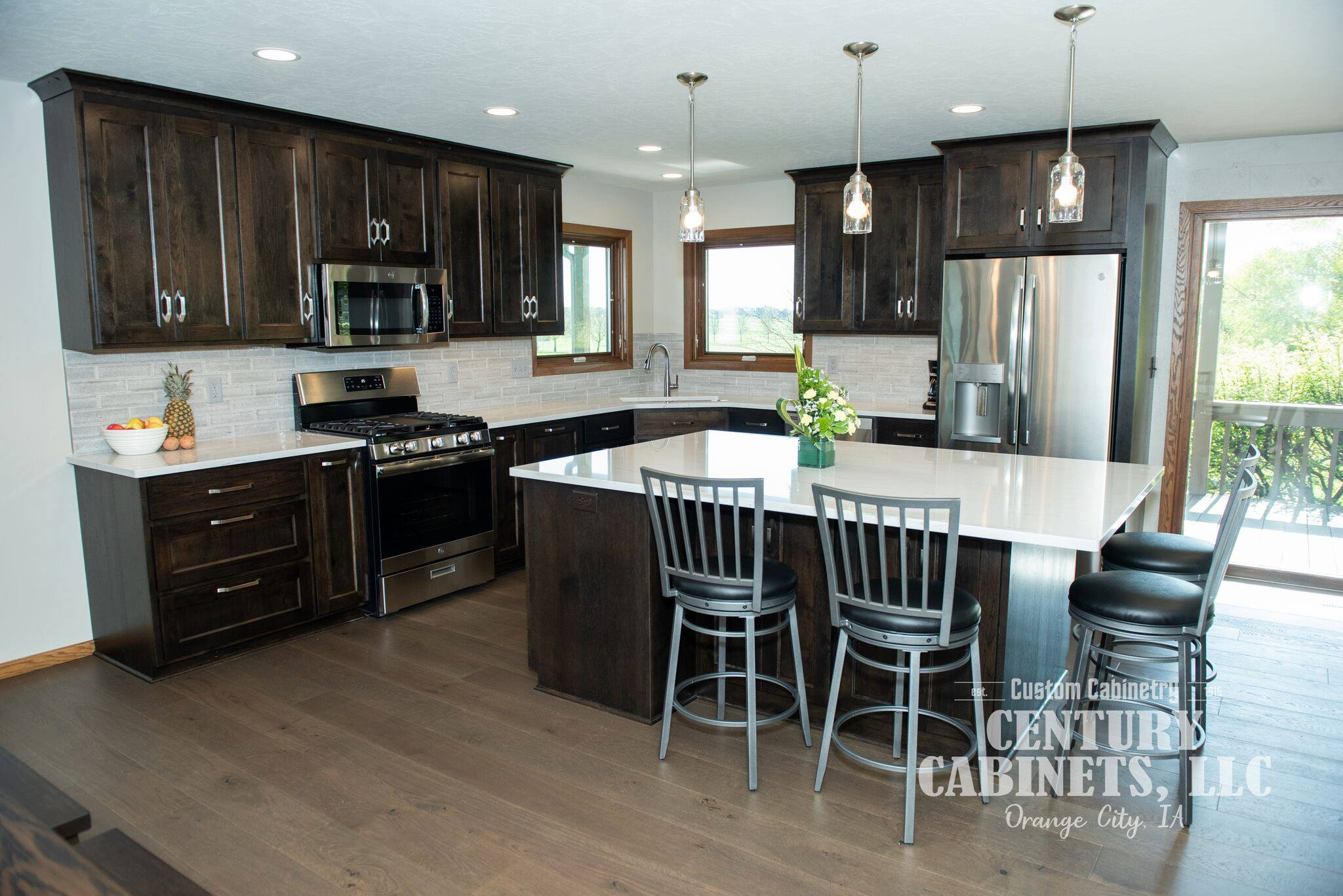 Rich Rustic Hickory | Custom Cabinetry Century Cabinets, LLC
